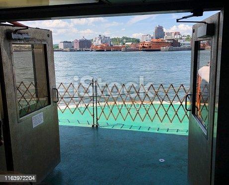 The staten Island ferry deck.