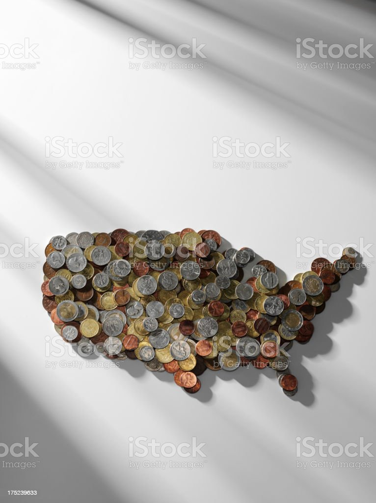 States of America on Paper royalty-free stock photo