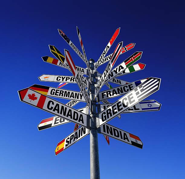 Estados del mundo y sus banderas - foto de stock