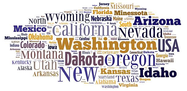 us states. - alaska us state stock photos and pictures