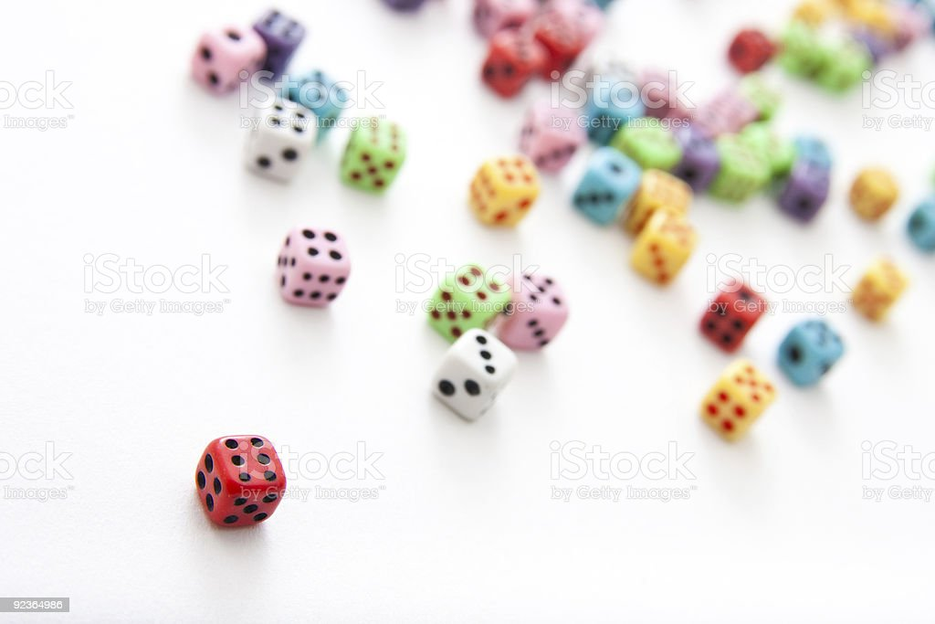 Static Dices - Angled View royalty-free stock photo