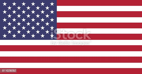 istock Static Flag of USA 511029252