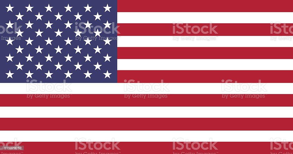 Static Flag of USA stock photo