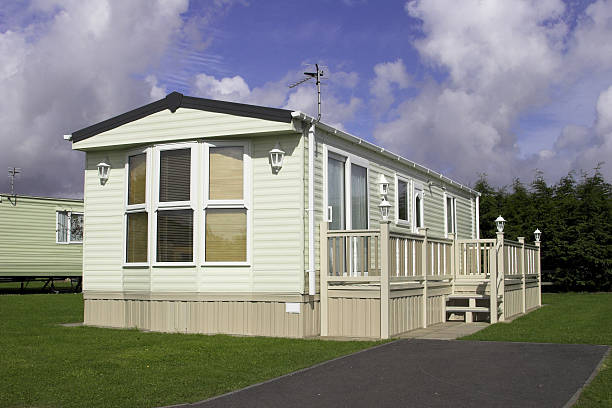 Static Holiday Home A static caravan holiday home caravan photos stock pictures, royalty-free photos & images