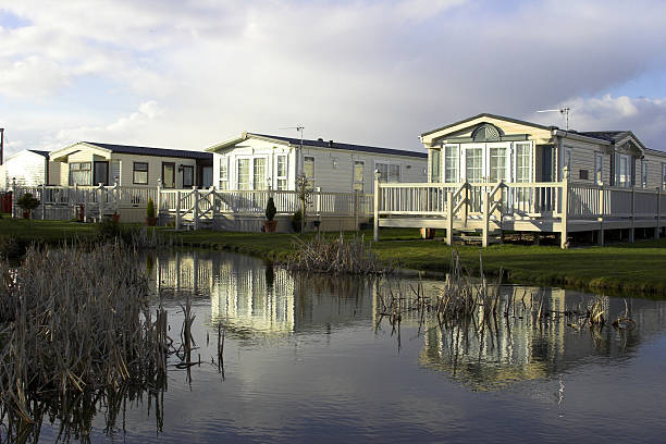 Static Holiday Homes Static caravan holiday homes trailer park stock pictures, royalty-free photos & images
