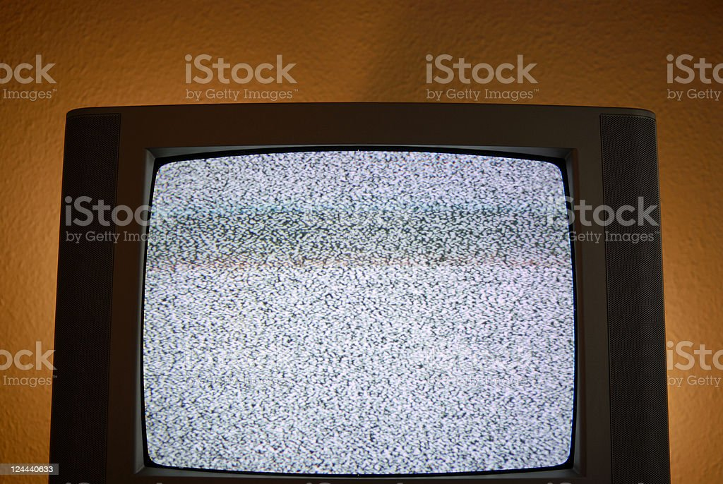 Static on TV royalty-free stock photo