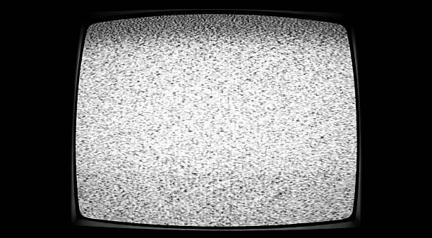 tv statique - concave photos et images de collection