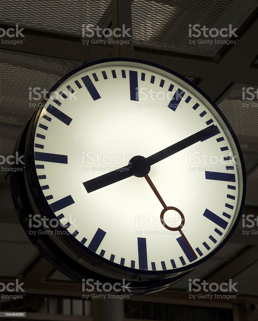 station clock stock photo