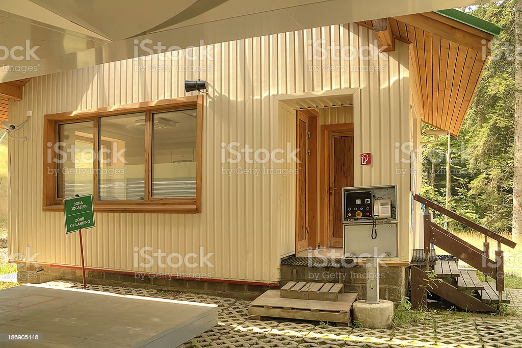 Station of ropeway royalty-free stock photo