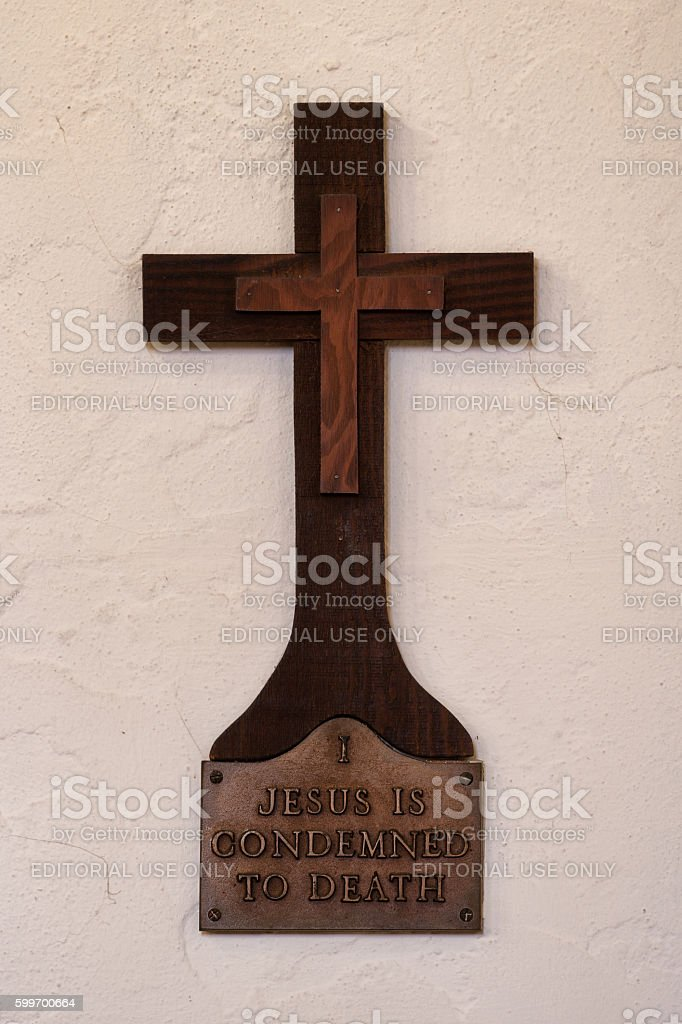 Station of the Cross stock photo