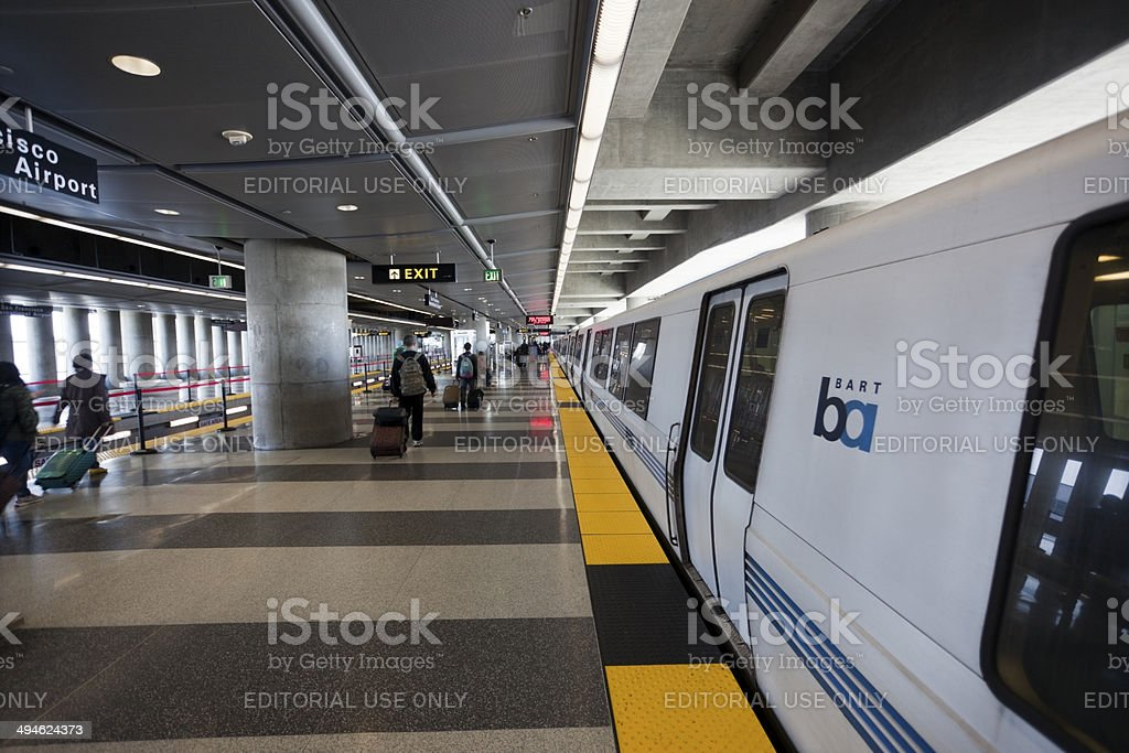 BART Station royalty-free stock photo