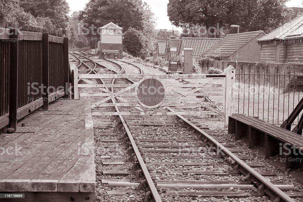 Station Railroad Siding royalty-free stock photo