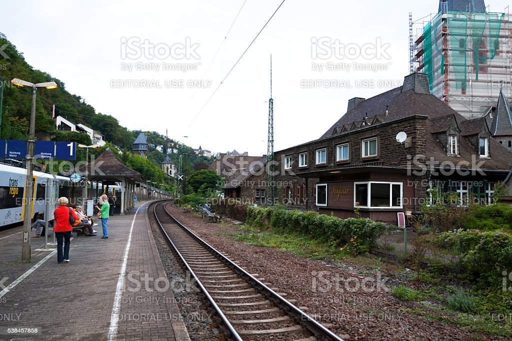 Station St. Goar stock photo