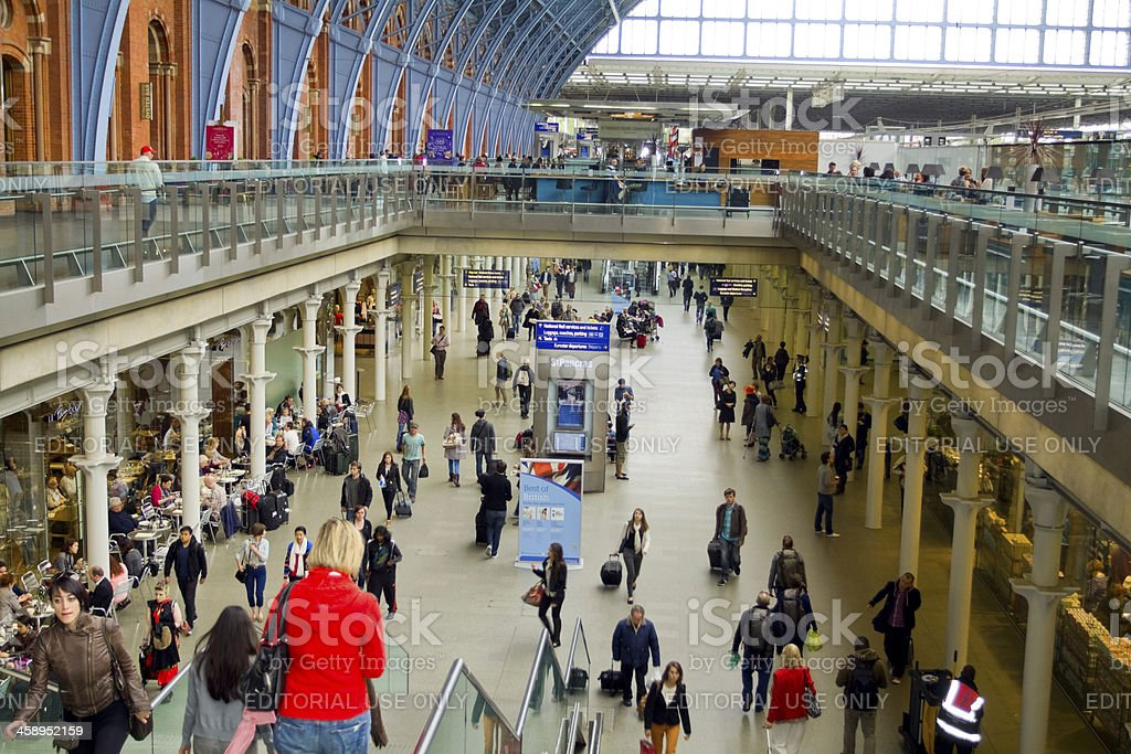 Station St. Pancras International in London stock photo