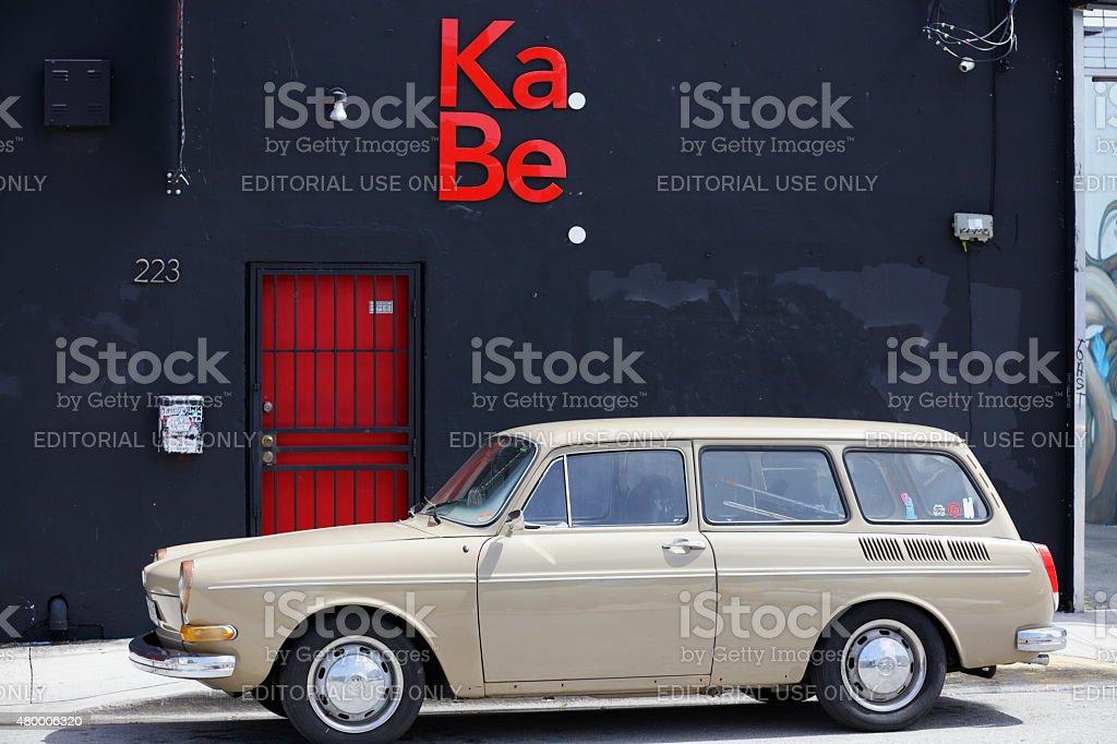 1973 VW Station Wagon 1600 stock photo