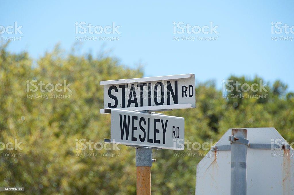 Station & Wesley stock photo