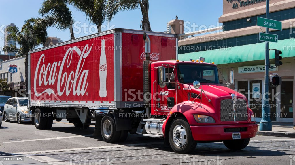 Camión de Coca-Cola inmóvil, San Francisco, California, USA - foto de stock