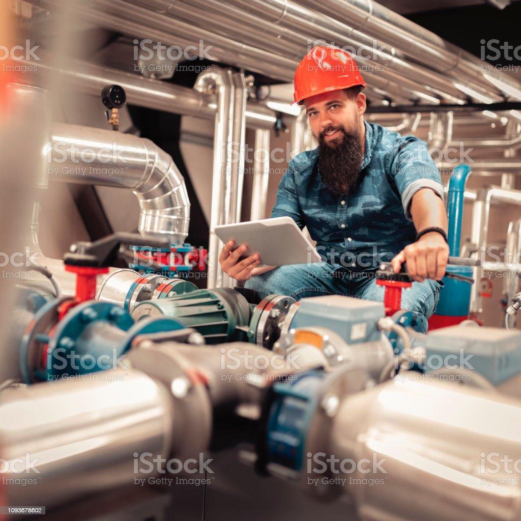 Stationäre Ingenieur bei der Arbeit - Lizenzfrei Arbeiten Stock-Foto