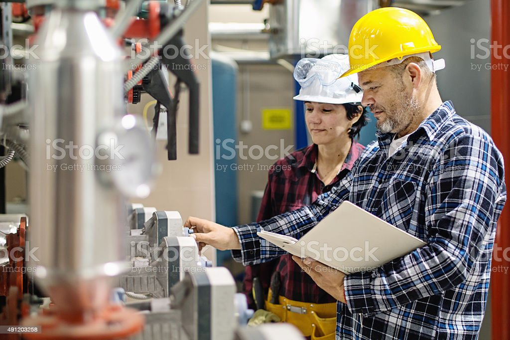 stationary engineers stock photo