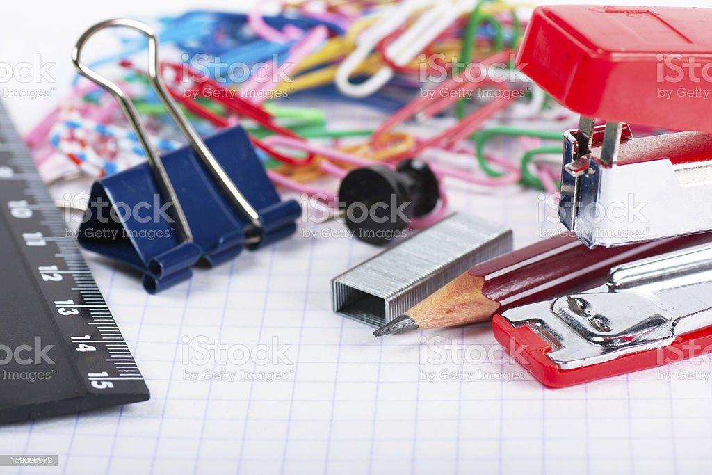 Stationary tools royalty-free stock photo