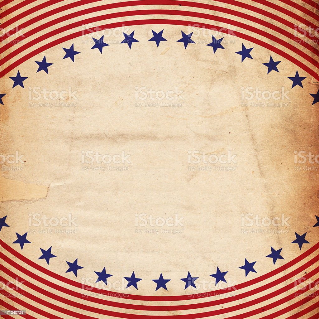 Stationary with patriotic Stars and Stripes print stock photo