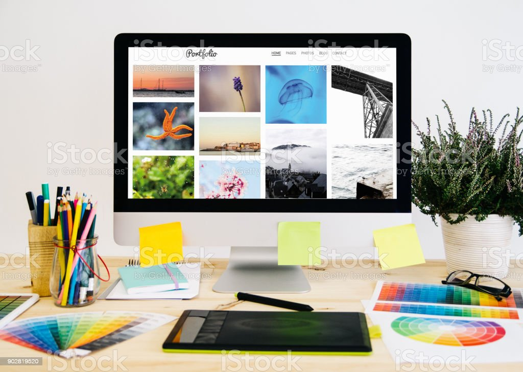 Briefpapier-Desktop-Foto-portfolio – Foto