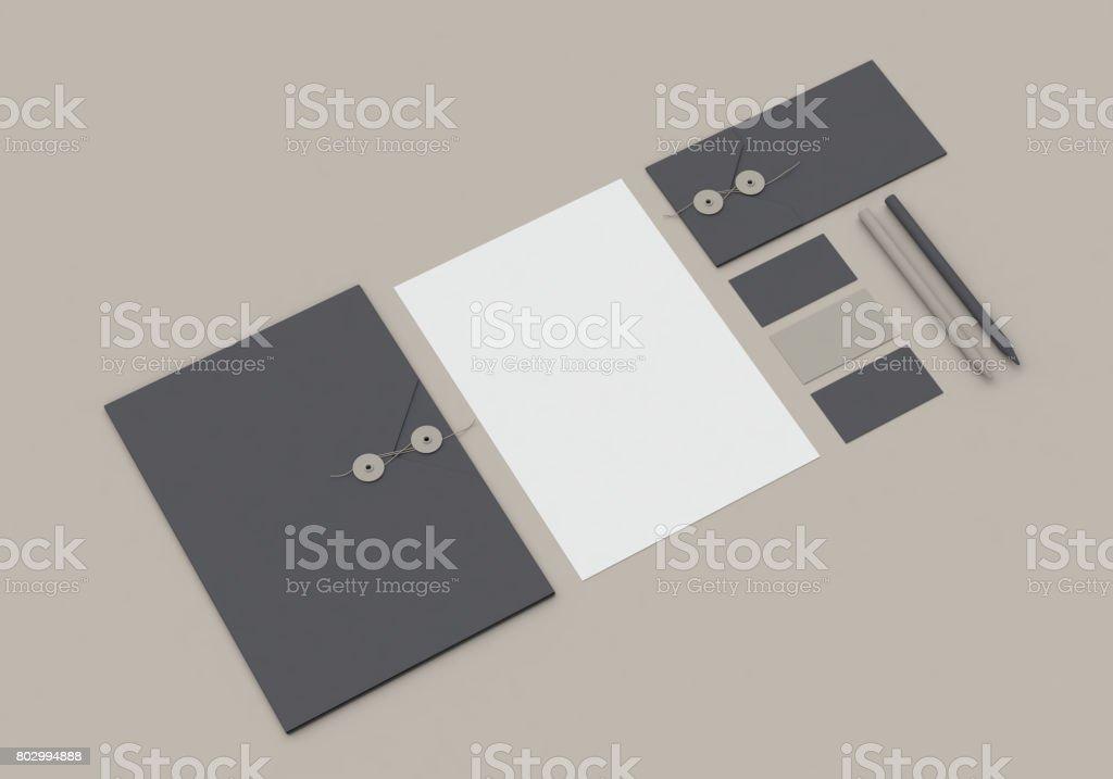 Stationery mock-up stock photo