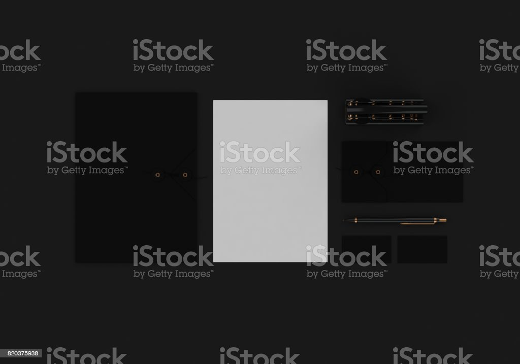 Stationery mock-up stock photo