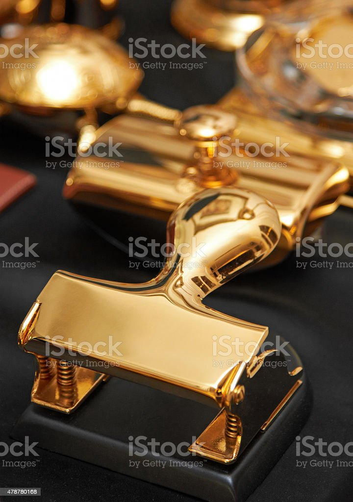 Stationery on a table stock photo
