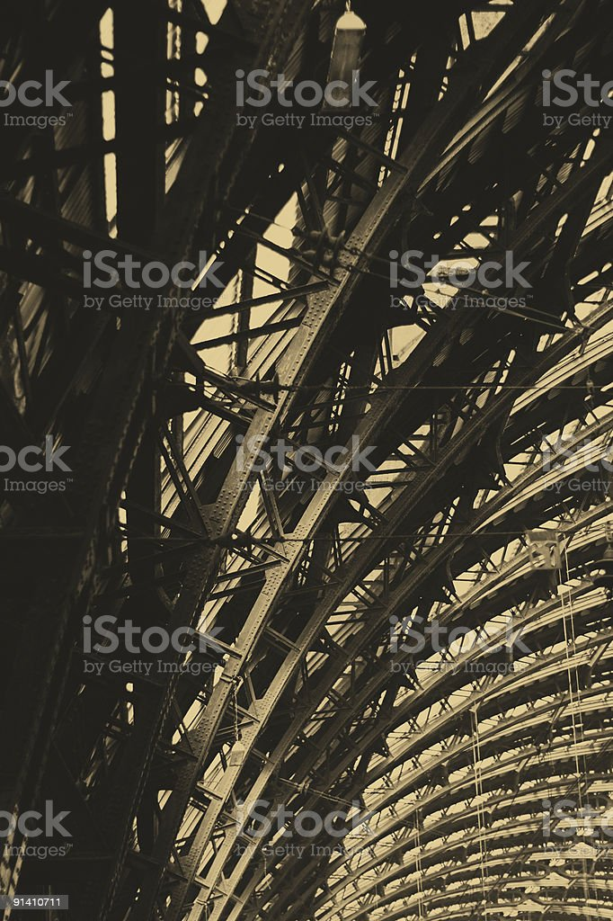 station's ceiling royalty-free stock photo