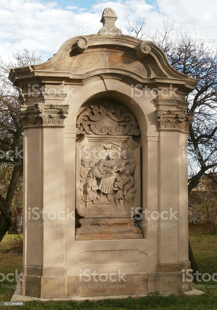 Stations of the Cross at the Church Vtelno (Czech Republic) stock photo