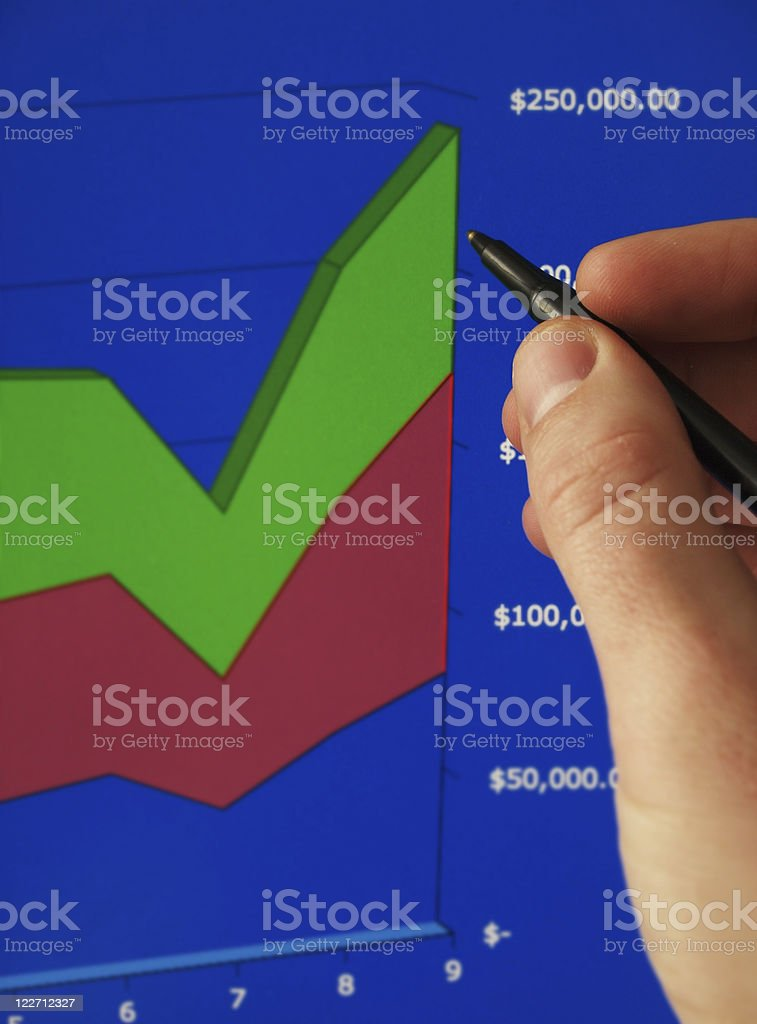 Statistical  Chart royalty-free stock photo