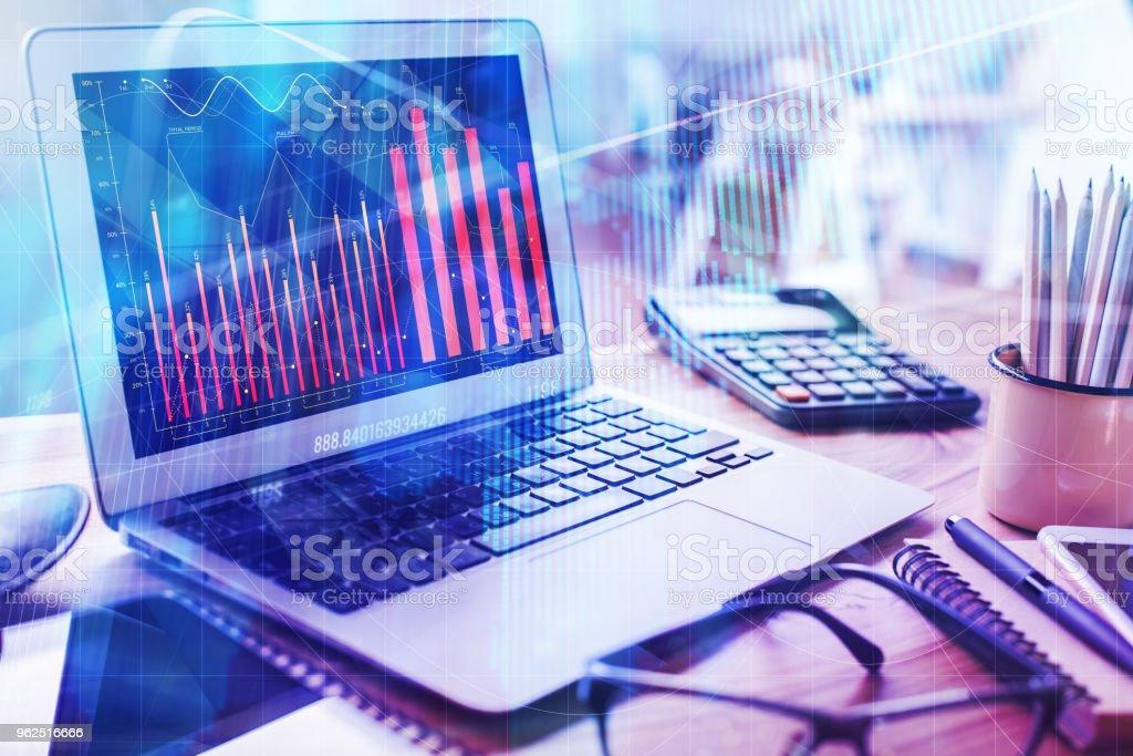 Conceito de estatísticas e comércio - Foto de stock de Analisar royalty-free