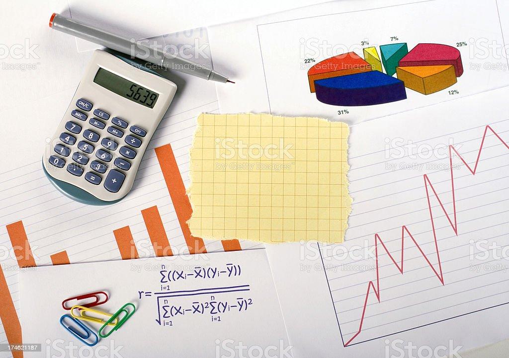 Statistics - graphs and charts royalty-free stock photo