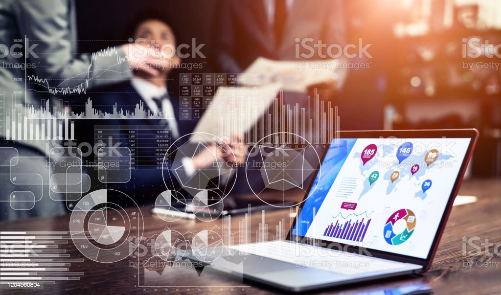 Statistics of business concept. Marketing. Analysis. - Royalty-free Accountancy Stock Photo