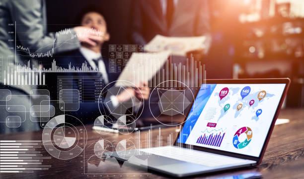 Statistics of business concept. Marketing. Analysis. stock photo