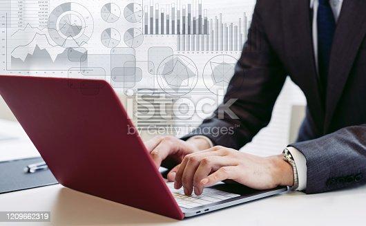 875512438 istock photo Statistics of business concept. Marketing. Analysis. 1209662319