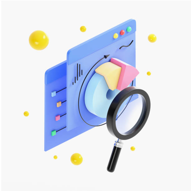 statistics research - advertising isometric stock photos and pictures