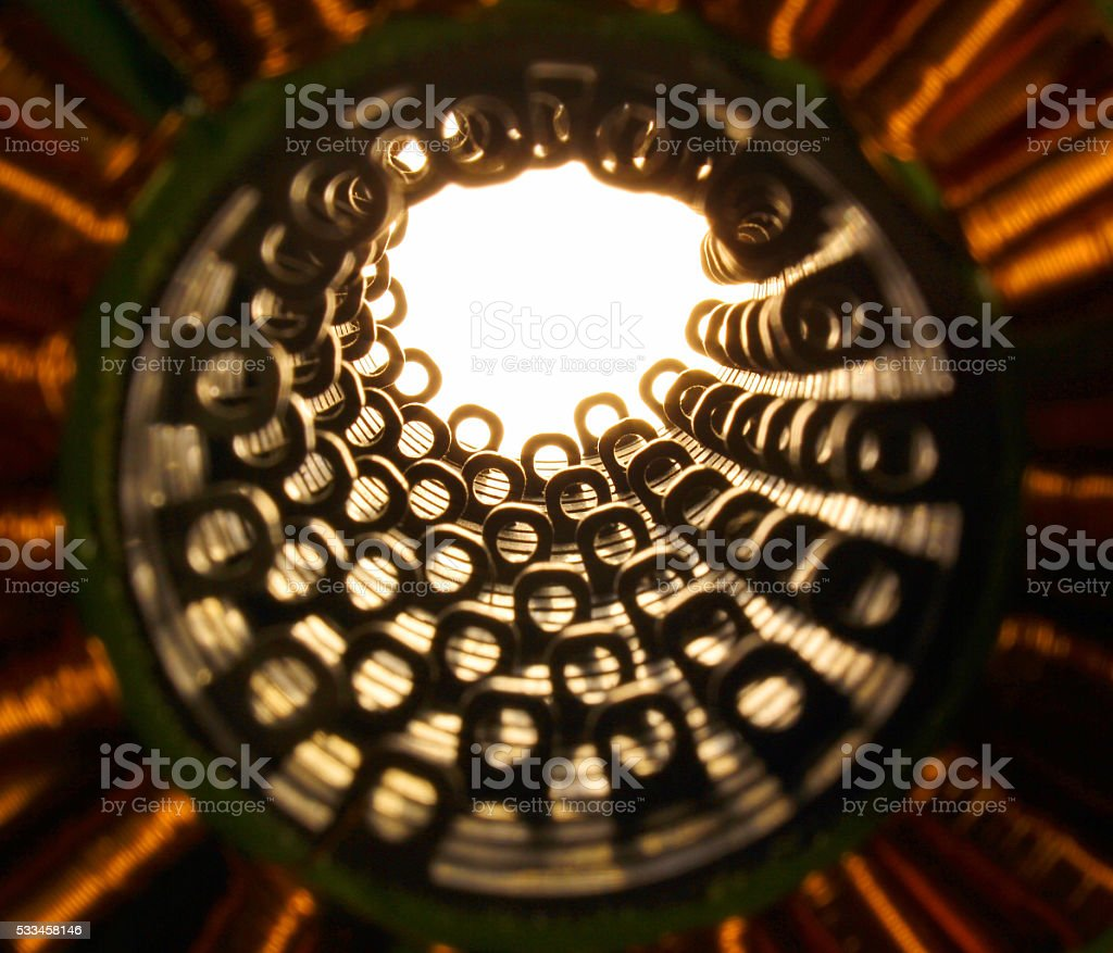 Stators of electrical motor. stock photo