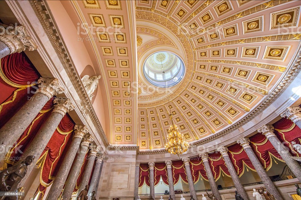 Statuary Hall in the Capitol - Washington, DC stock photo