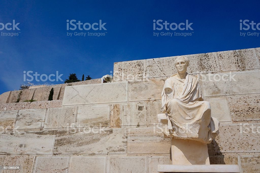 Statue and blue stock photo