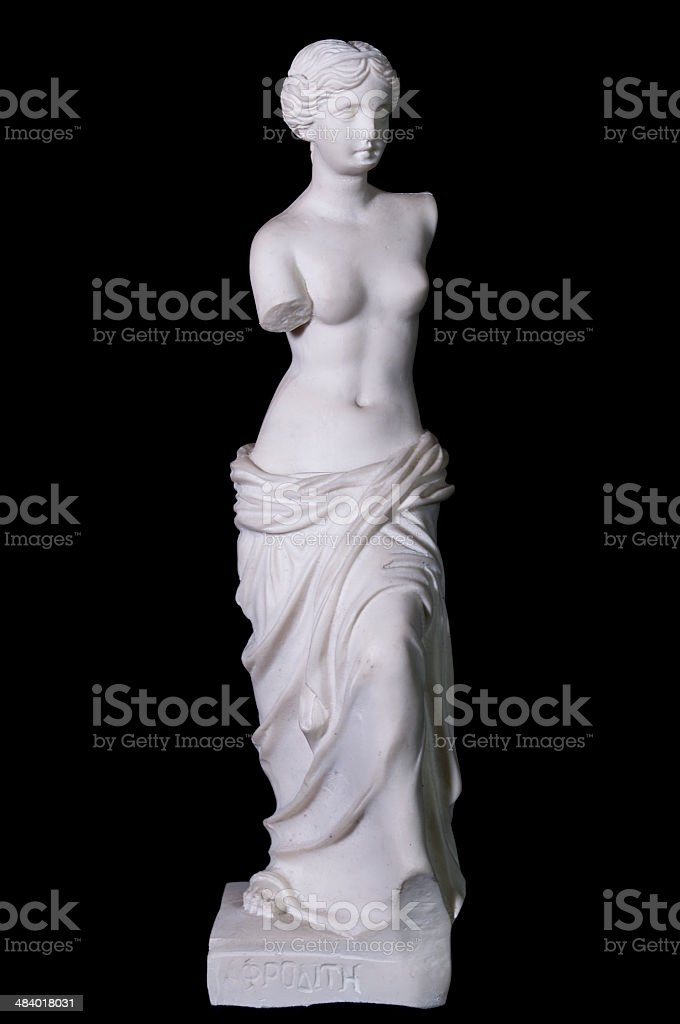 Statue 'Aphrodite of Milos' isolated stock photo