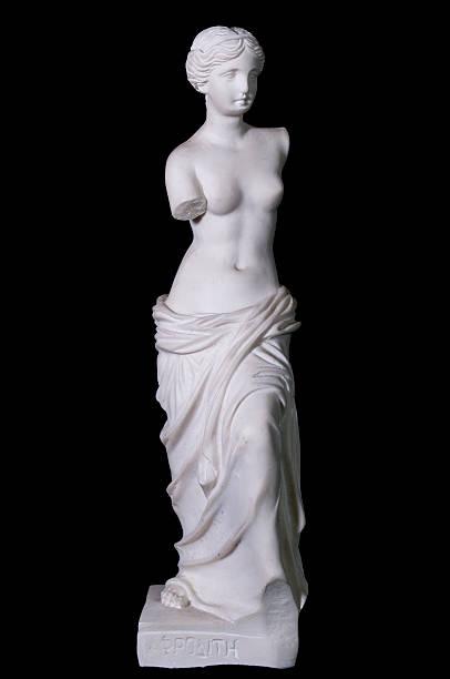 statue «aphrodite de milos'isolation - venus photos et images de collection