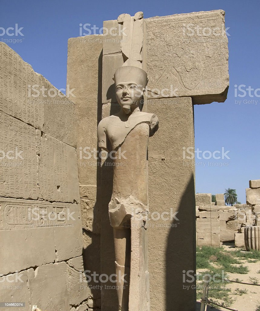 statue around Precinct of Amun-Re royalty-free stock photo