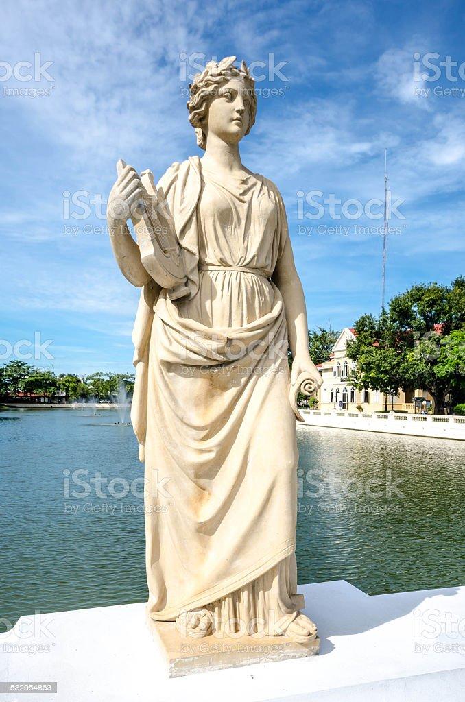 Statue at Bang Pa-In Palace ,Ayutthaya , Thailand stock photo