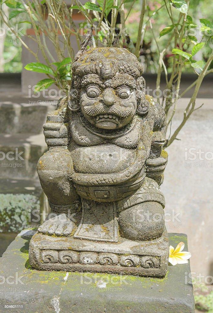 Statue at Goa Gajah Cave in Bali stock photo