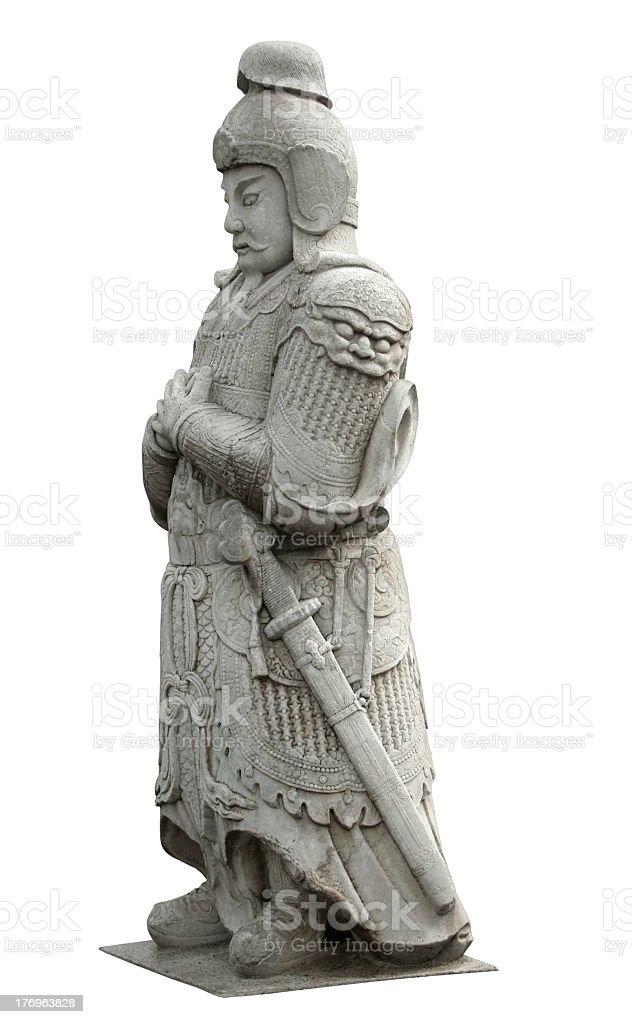 Statue at the Spirit Way near Beijing royalty-free stock photo