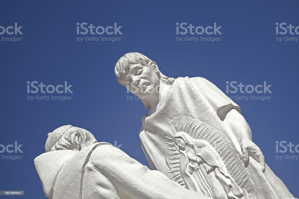 Statue, Basilica de la Inmaculada Concepcion, Mazatlan, Mexico royalty-free stock photo