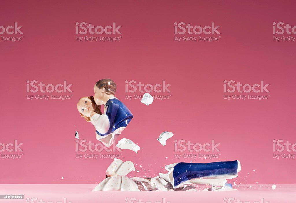 Statue breaks stock photo