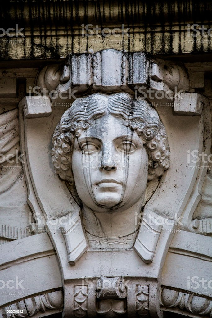 Statue crying royalty-free stock photo